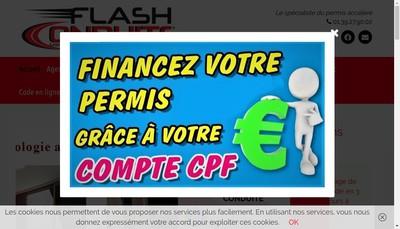 Site internet de Flash Conduite Poissy