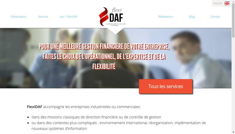 Capture d'écran du site de Flexidaf SASU