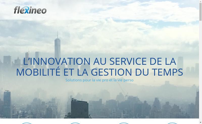 Capture d'écran du site de Flexineo