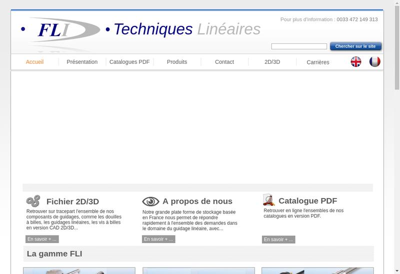 Capture d'écran du site de France Lineaire Industrie