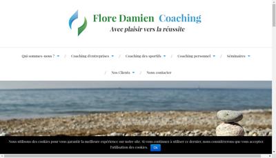 Capture d'écran du site de Flore Damien Coaching