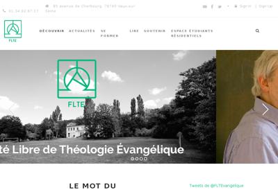 Capture d'écran du site de FLTE
