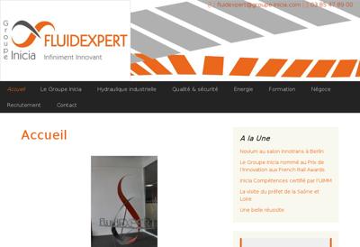 Capture d'écran du site de Fluidexpert