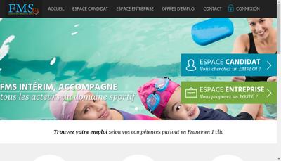 Capture d'écran du site de Facilities Management Solution