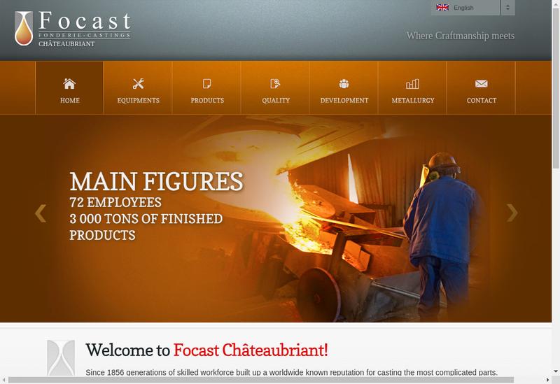 Capture d'écran du site de Focast