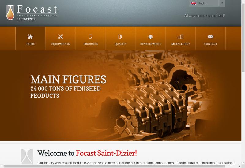 Capture d'écran du site de Focast Saint Dizier