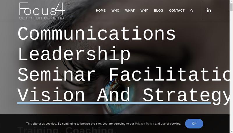 Capture d'écran du site de Focus4 Communications
