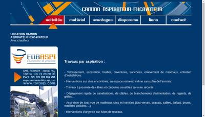 Capture d'écran du site de Foraspi