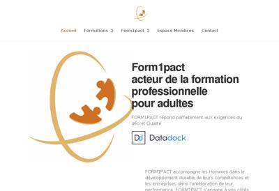 Capture d'écran du site de Form1Pact