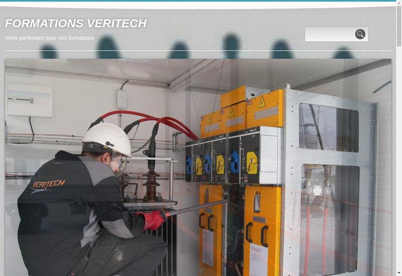 Capture d'écran du site de Veritech
