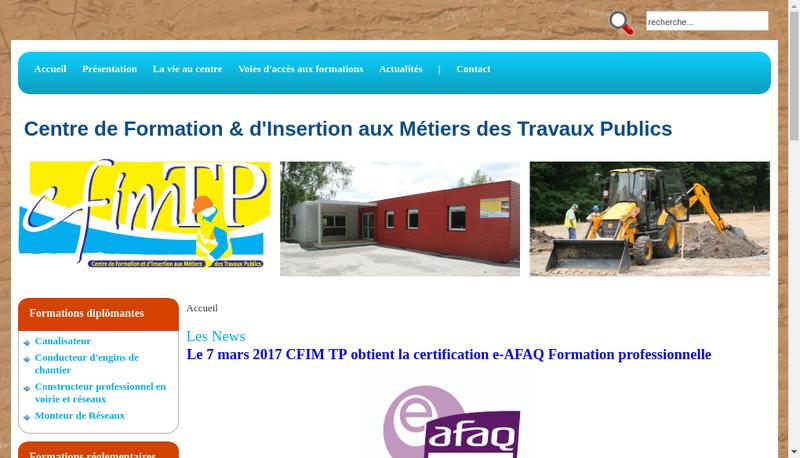 Capture d'écran du site de Cfim Tp