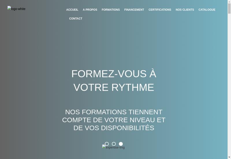Capture d'écran du site de Formaxe