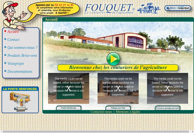 Capture d'écran du site de Fouquet
