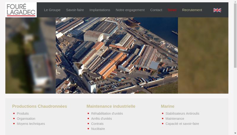 Capture d'écran du site de Foure Lagadec