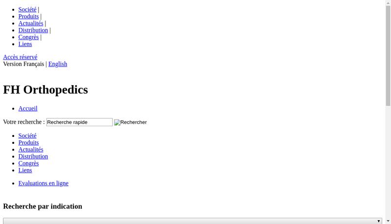 Capture d'écran du site de Actilife