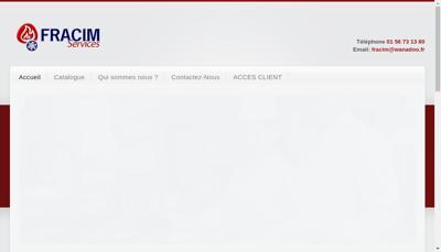 Capture d'écran du site de Fracim Services