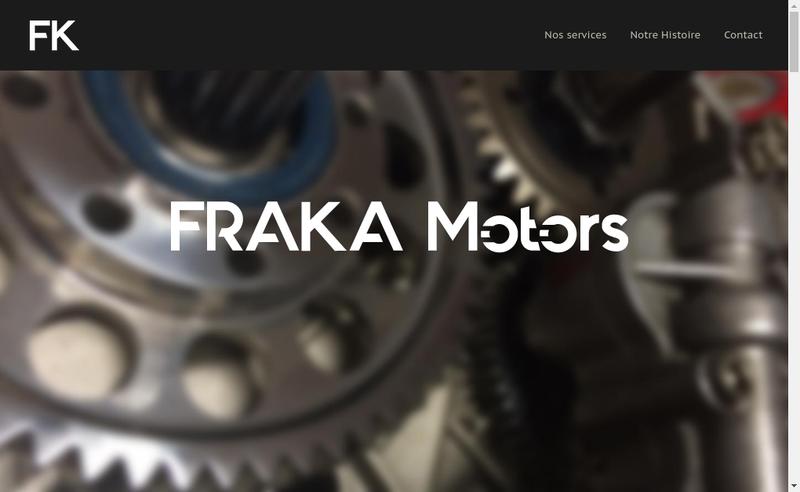 Capture d'écran du site de Fraka Motors