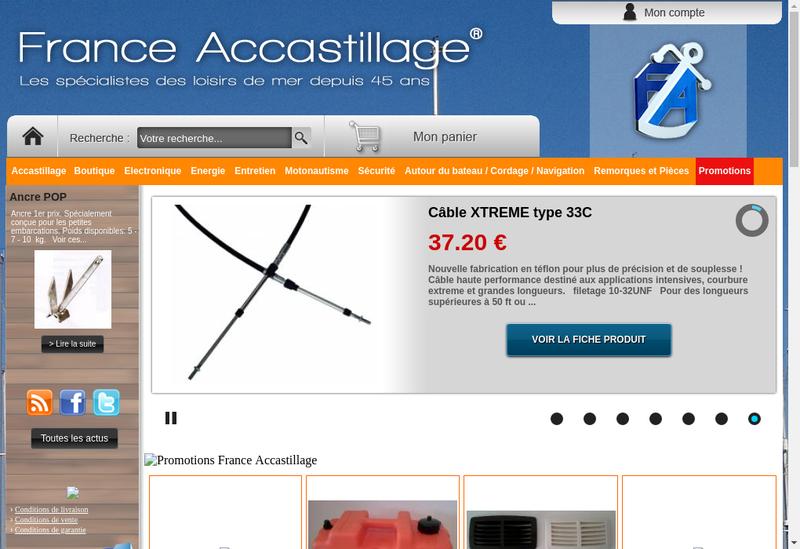 Capture d'écran du site de Accastillage Center