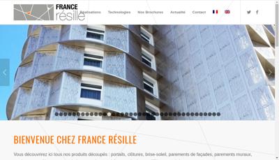 Capture d'écran du site de France Resille