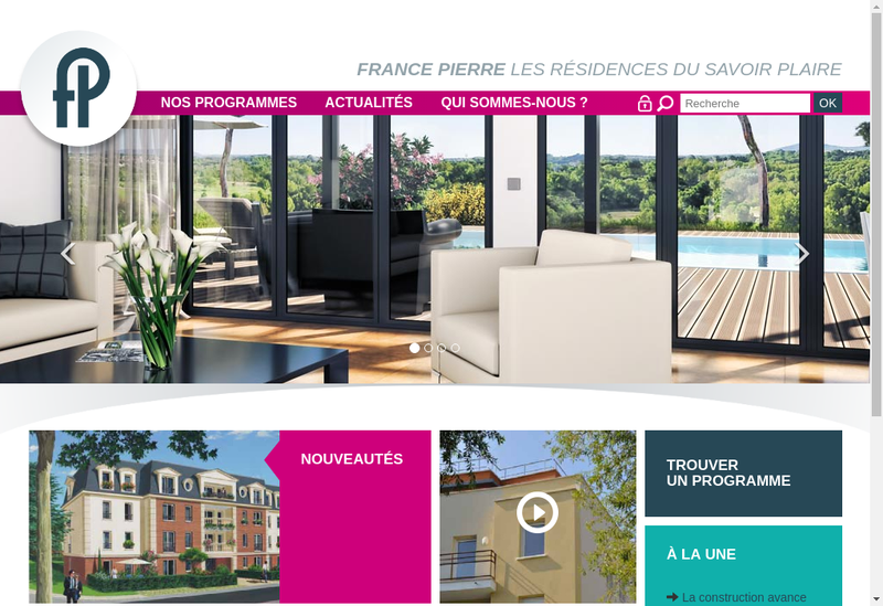 Capture d'écran du site de France Pierre 2