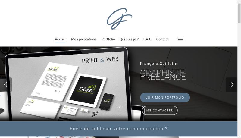 Capture d'écran du site de Francois Guillotin