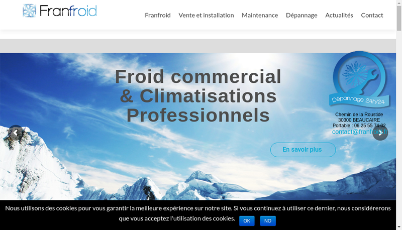 Capture d'écran du site de Francois Aigues
