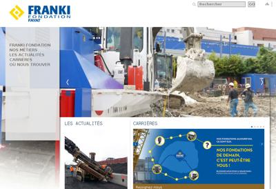 Capture d'écran du site de Franki Fondation