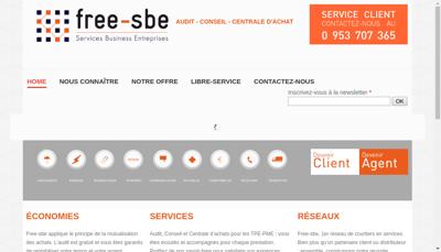 Capture d'écran du site de Free Sbe