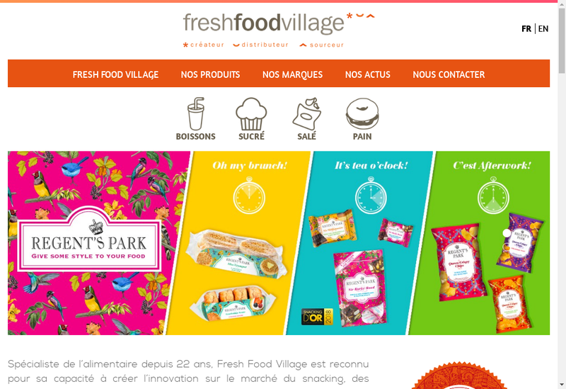 Capture d'écran du site de Fresh Food Village