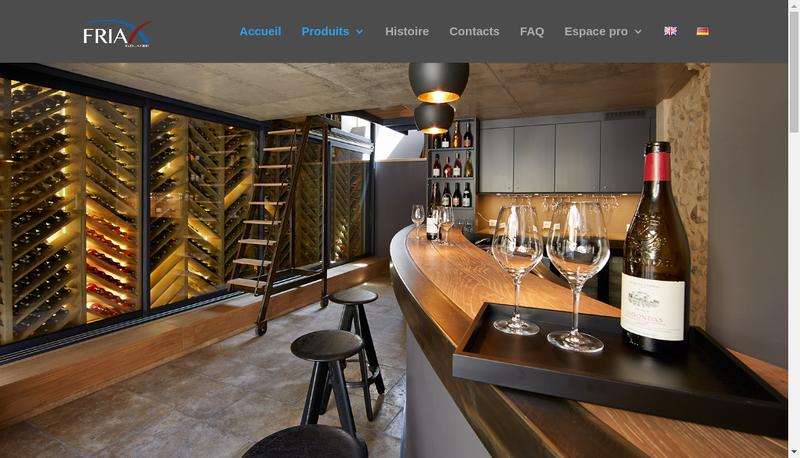 Capture d'écran du site de Friax Industrie