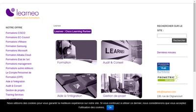 Site internet de Learneo