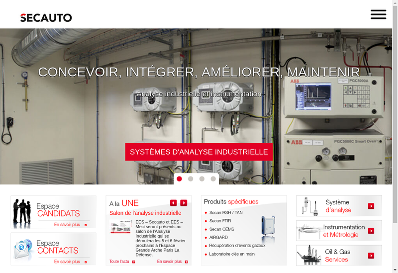 Capture d'écran du site de Secauto