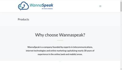 Site internet de Wannaspeak