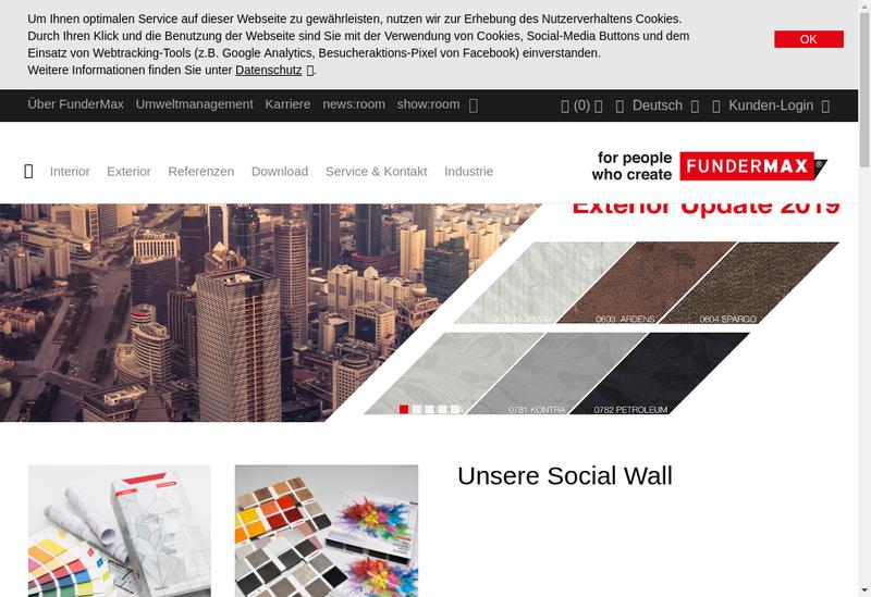 Capture d'écran du site de Fundermax France