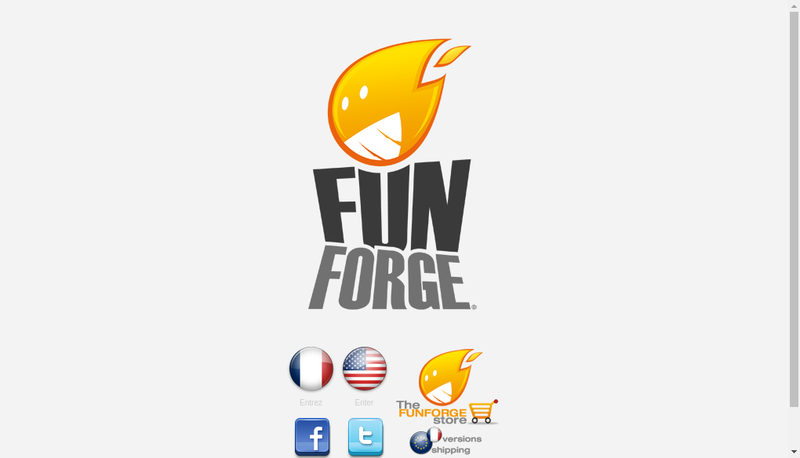 Capture d'écran du site de Funforge