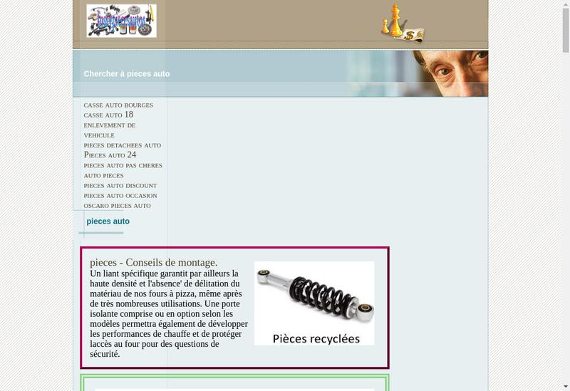 Capture d'écran du site de Fussy Pieces Autos