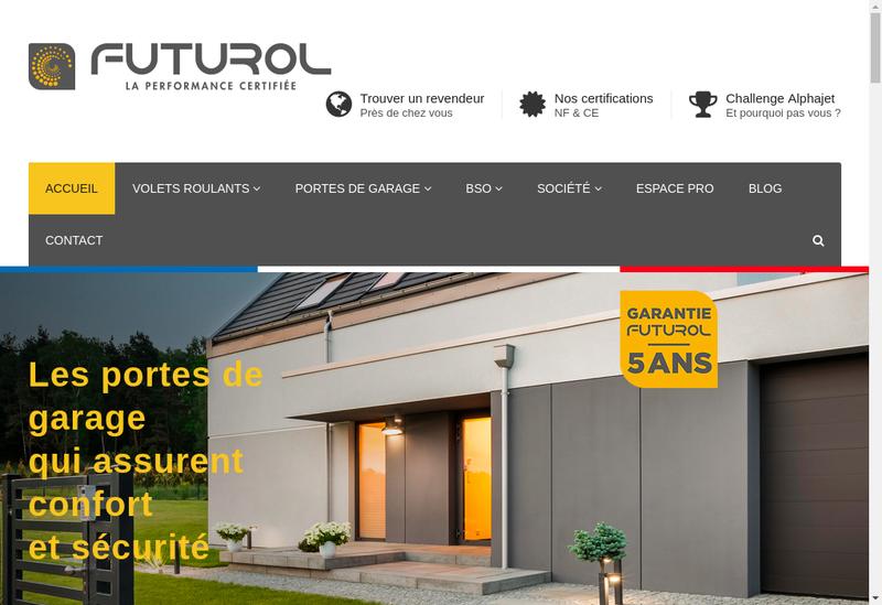 Capture d'écran du site de Futurol