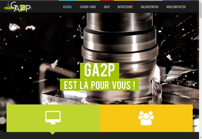 Capture d'écran du site de GA2P