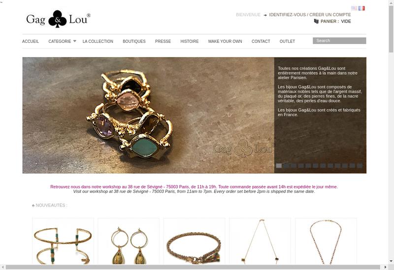 Capture d'écran du site de Gag et Lou