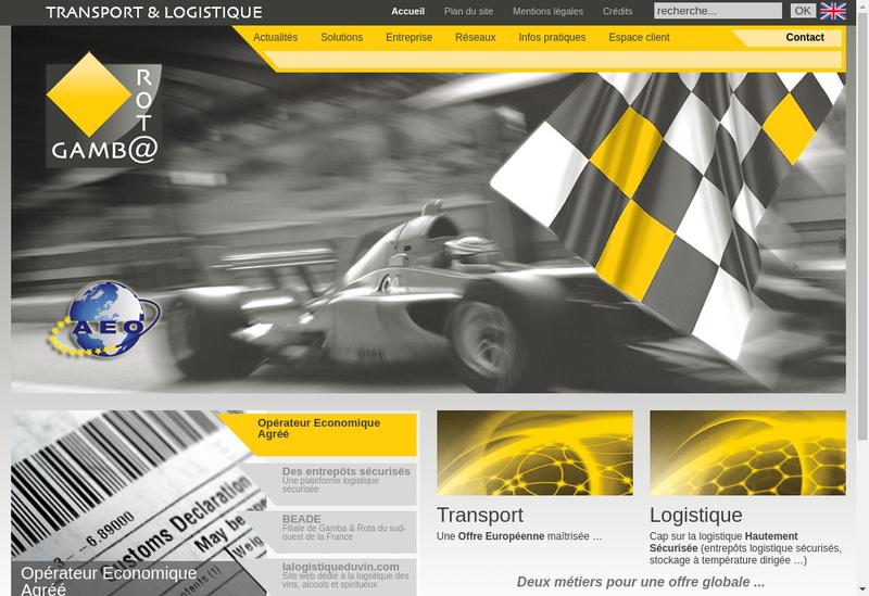Capture d'écran du site de Gamba et Rota