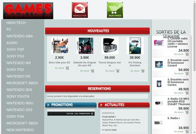 Site internet de King Games - Cyber Stores