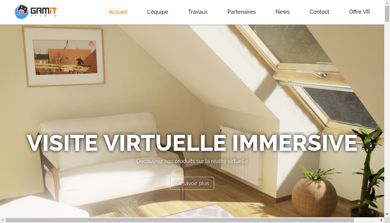 Capture d'écran du site de Gamit