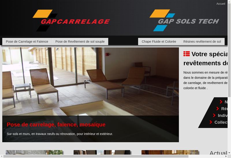 Capture d'écran du site de Gap Carrelage
