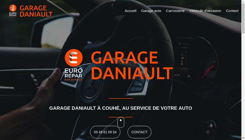 Capture d'écran du site de Garage Daniault