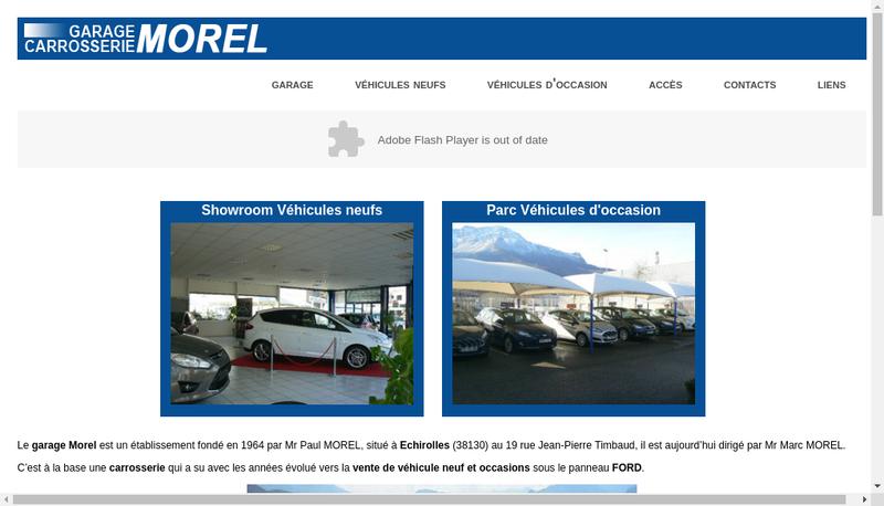 Capture d'écran du site de Garage Carrosserie Morel