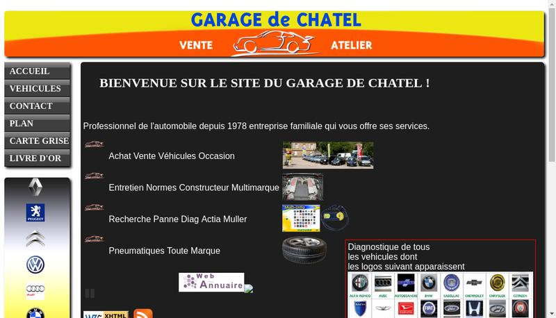 Capture d'écran du site de Garage de Chatel