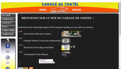 Site internet de Garage de Chatel