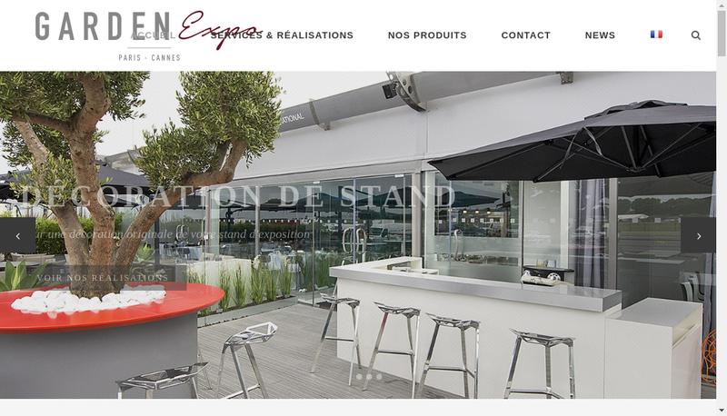 Capture d'écran du site de SARL Garden Expo