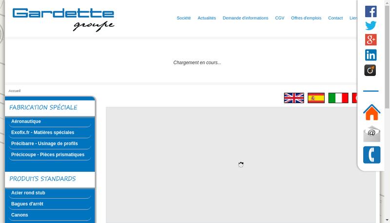 Capture d'écran du site de Gardette SA