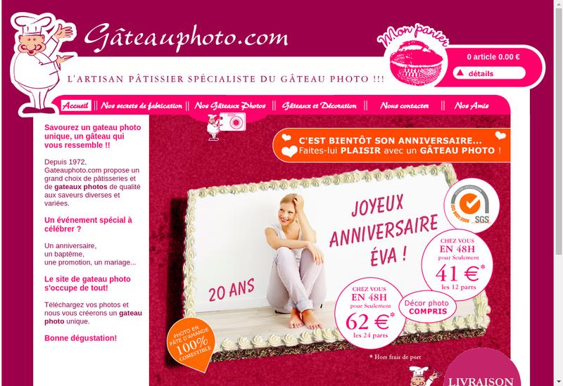 Capture d'écran du site de Entremets de Paris